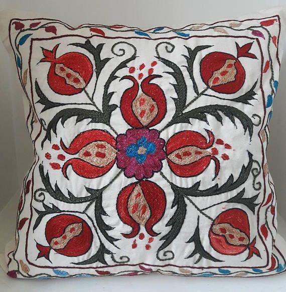 Suzani handmade pillow cover pillow case from Uzbekistan