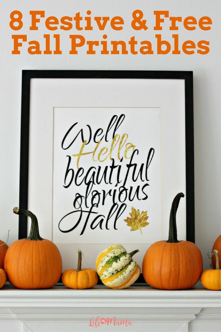 Looking for free printables, perfect for your fall decor? Check out this great list, they are beautiful and just what you need to decorate in style.