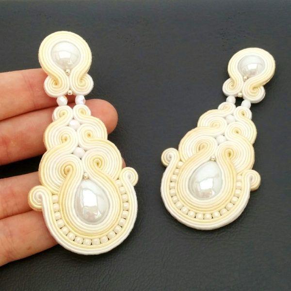 Soutache earrings - Bridal earrings - Bridal jewelry - Soutache jewelry   SABO Design