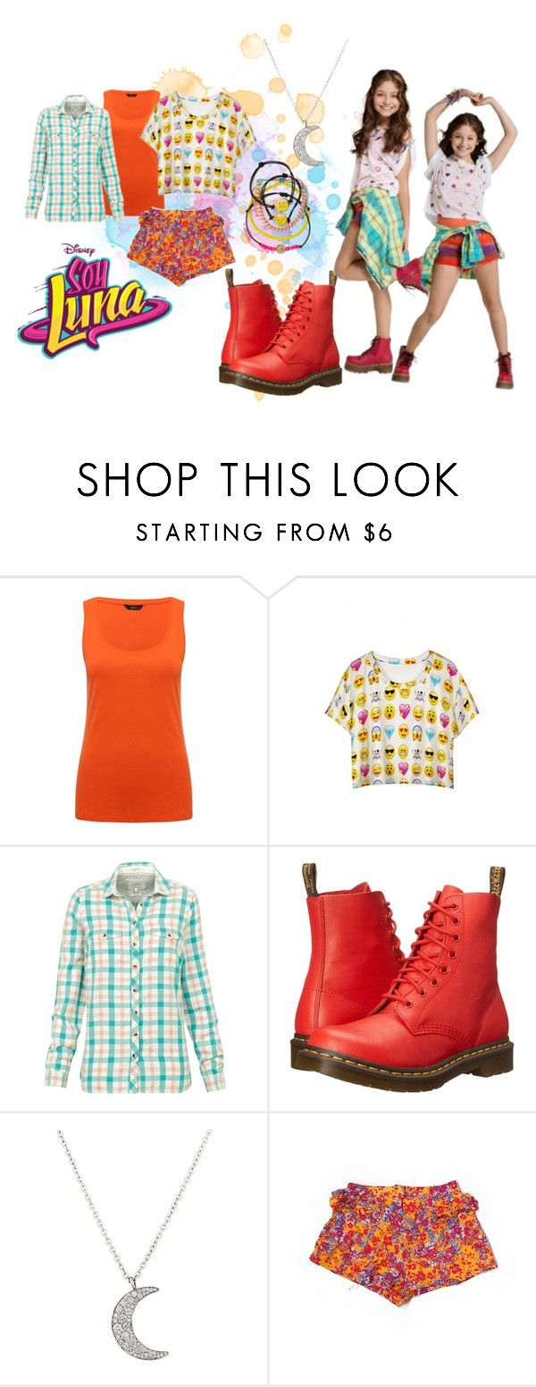 """""""soy luna"""" by maria-look on Polyvore featuring M&Co, Fat Face, Dr. Martens, Finn, Mus, Paper Heart and Carole"""