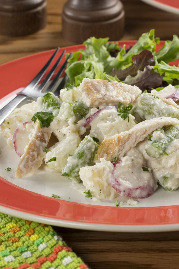 All-in-One Chicken Potato Salad | mrfood.com