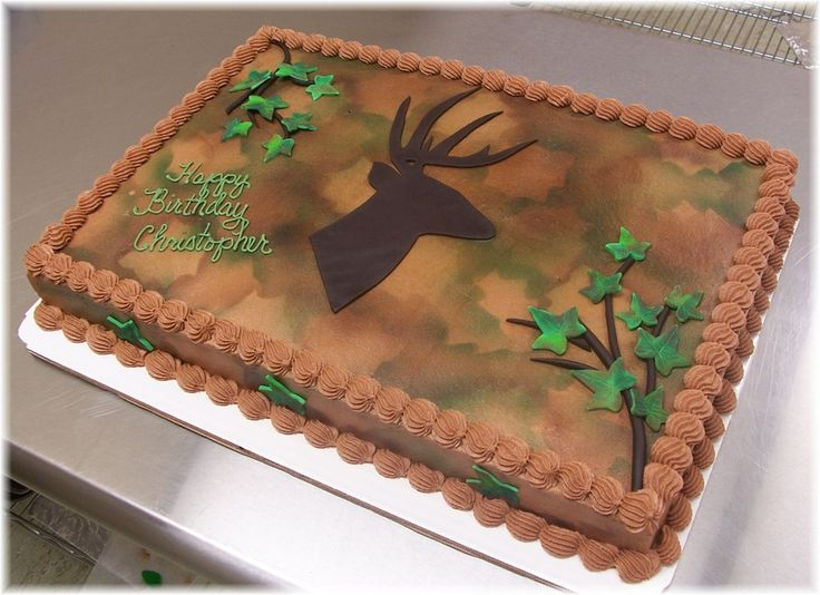 camo cakes | Deer with Camo — Birthday Cakes