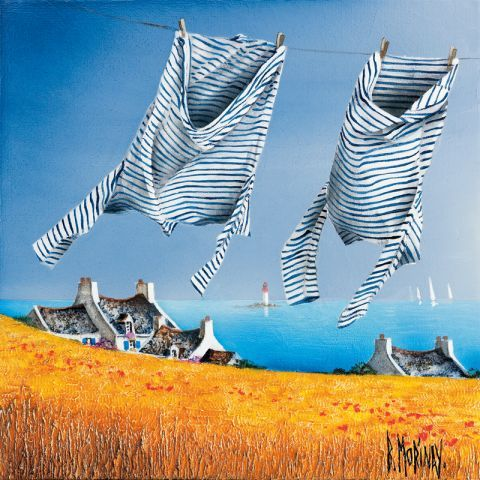 'Seaman's jersey's in the wind' (Marinières au Vent) - by Bernard Morinay