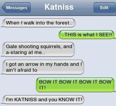 Katniss: Hunga Games, Lmfao Th, I M Katniss, Gods Love, Games Fans, Hunger Games Humor, The Hunger Game, Katniss Haha