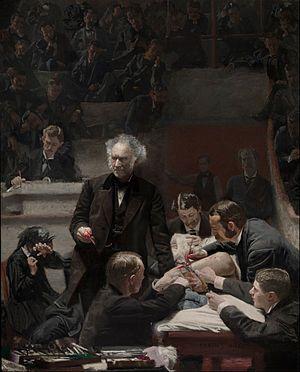 Thomas Eakins, Grossin kliniikka 1875, realismi, USA