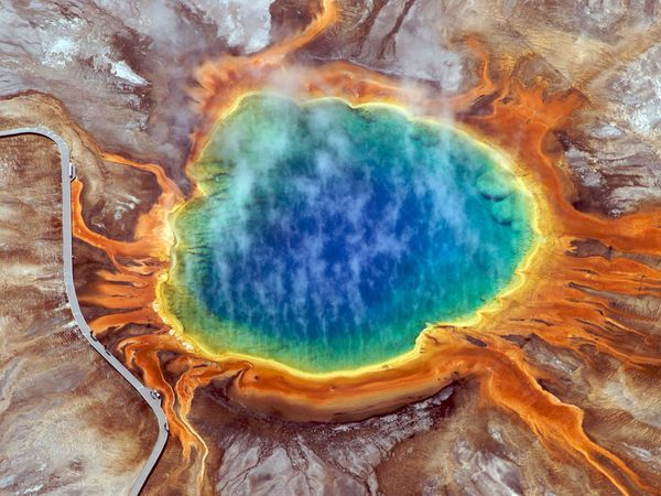 Incredible!...Yellowstone National Park, #USABuckets Lists, Favorite Places, Nature, Grand Prismatic, Prismatic Spring, Bing Image, Amazing Places, Hot Spring, Yellowstone National Parks