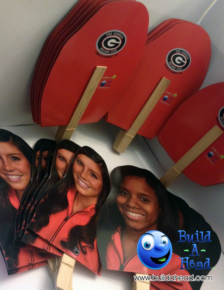 Georgia Bulldog face cutouts for their gymnastics team from BuildAHead.com. 9x12in size shown.