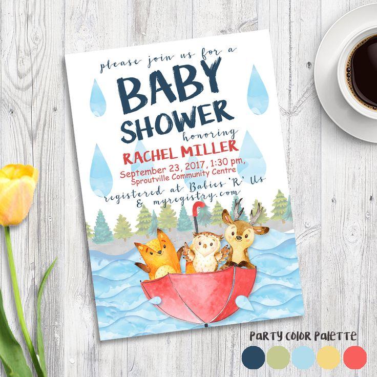 woodland shower invitation, neutral shower invitation, baby shower invitation, animals, baby shower, gender neutral baby invite unisex by AweDesignsShop on Etsy https://www.etsy.com/ca/listing/592661589/woodland-shower-invitation-neutral