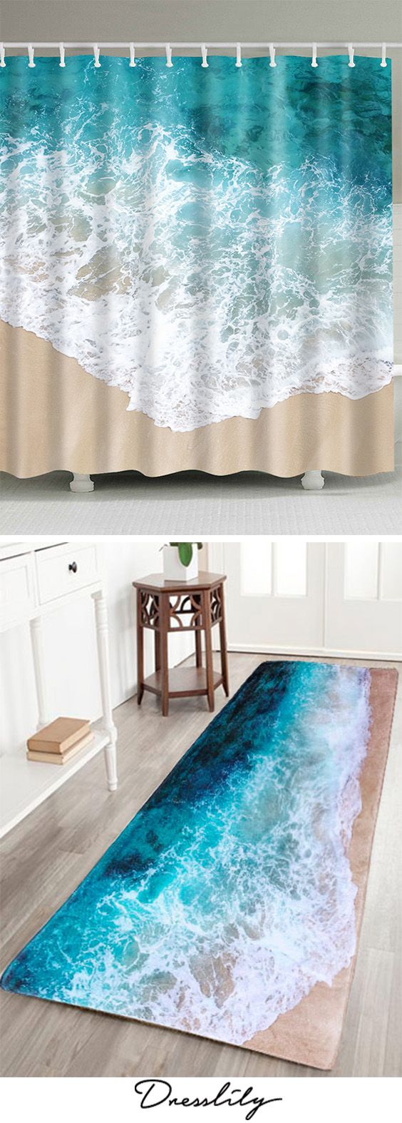 Find Shower Curtains and Bath Rugs at Dresslily.com. Enjoy Free Shipping & browse our great selection of Shower Curtains that will look great in your bathroom!#home#bathroom#showercurtain#bathrugs