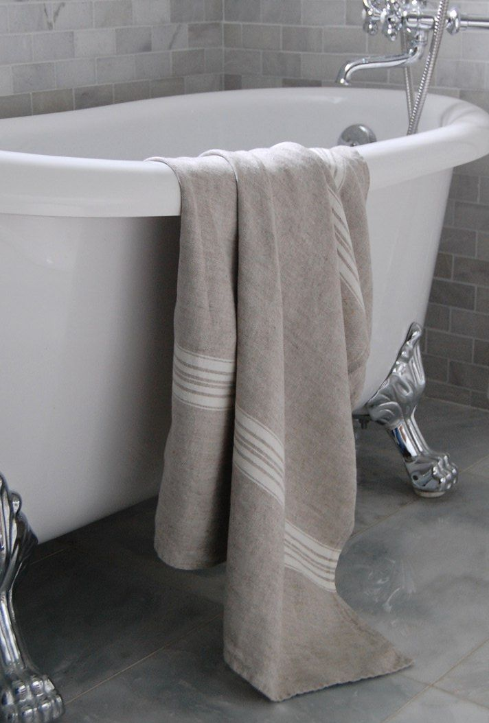 #LinenWay #Linen #Linen Towel #Towel #Linen Bath Towel #Striped Linen #Modern Towel #Absorbent Towel