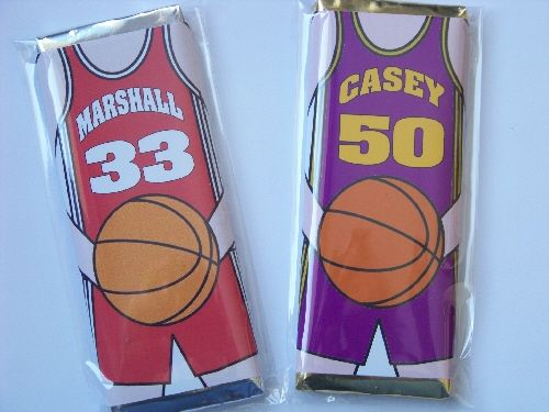 Basketball Jersey Candy Bar Favor - $1.00 : -= Kims Kandy Kreations =-, Sweet gifts as unique as you are