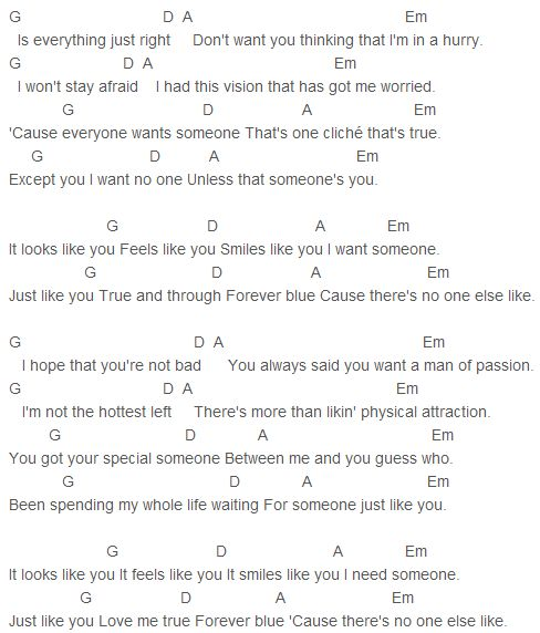 flirting signs he likes you like lyrics song chords