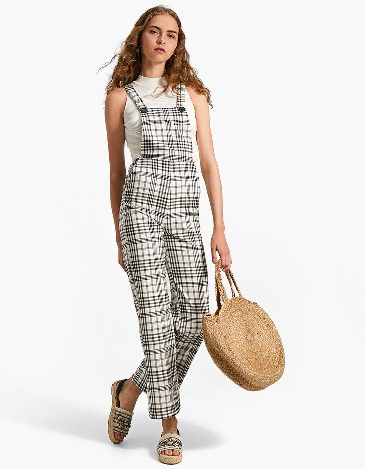 605fd4553db7 Checked dungarees - Jumpsuits   Playsuits