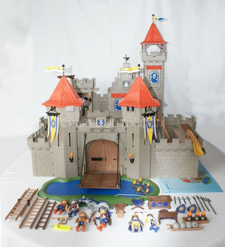 D tails sur playmobil chevalier ch teau fort m di val for Plan chateau fort playmobil