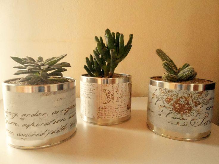 M s de 1000 ideas sobre latas decoradas en pinterest for Plantas decoradas con piedras