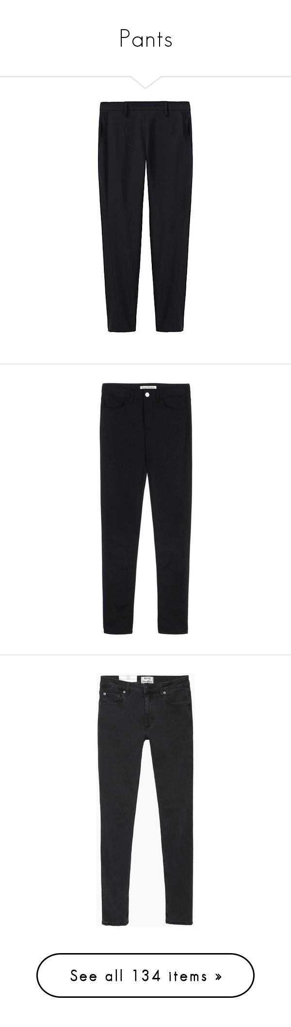 """""""Pants"""" by cinnamon-and-cocoa ❤ liked on Polyvore featuring pants, bottoms, trousers, clothes - pants, women, tapered trousers, tapered pants, zig zag pants, straight pants and thakoon"""