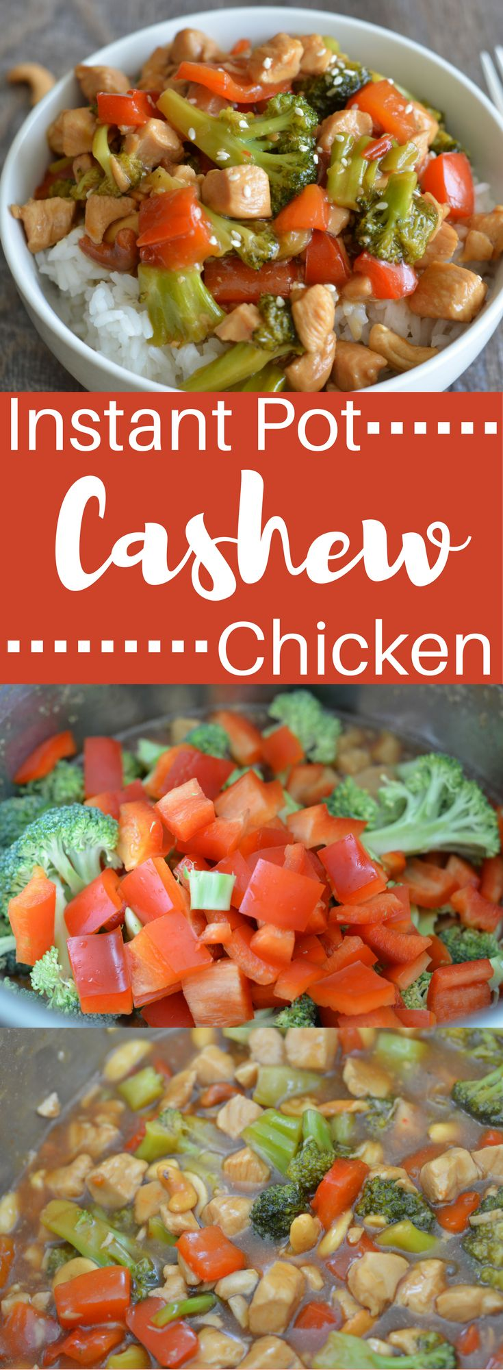 Put the phone down! Instant Pot Cashew Chicken tastes just as good, if not better than anything you can order! And, it only takes 6 mins to put together!