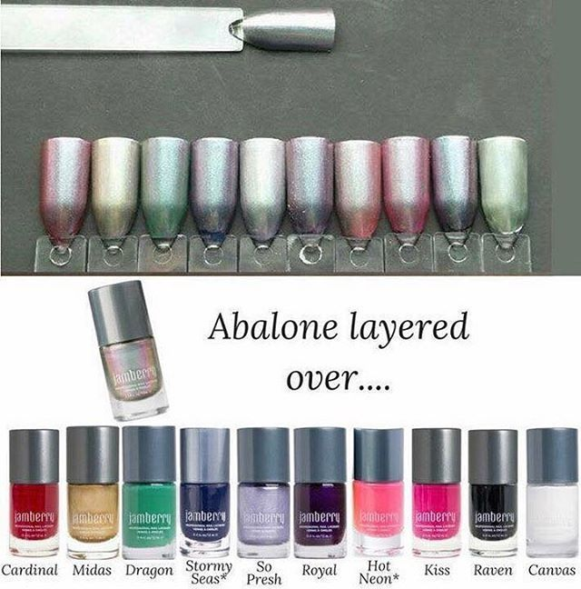 Wow, Abalone is such a great Lacquer it goes so well over these Lacquer #jamberrynails #abalonejn #mixitup