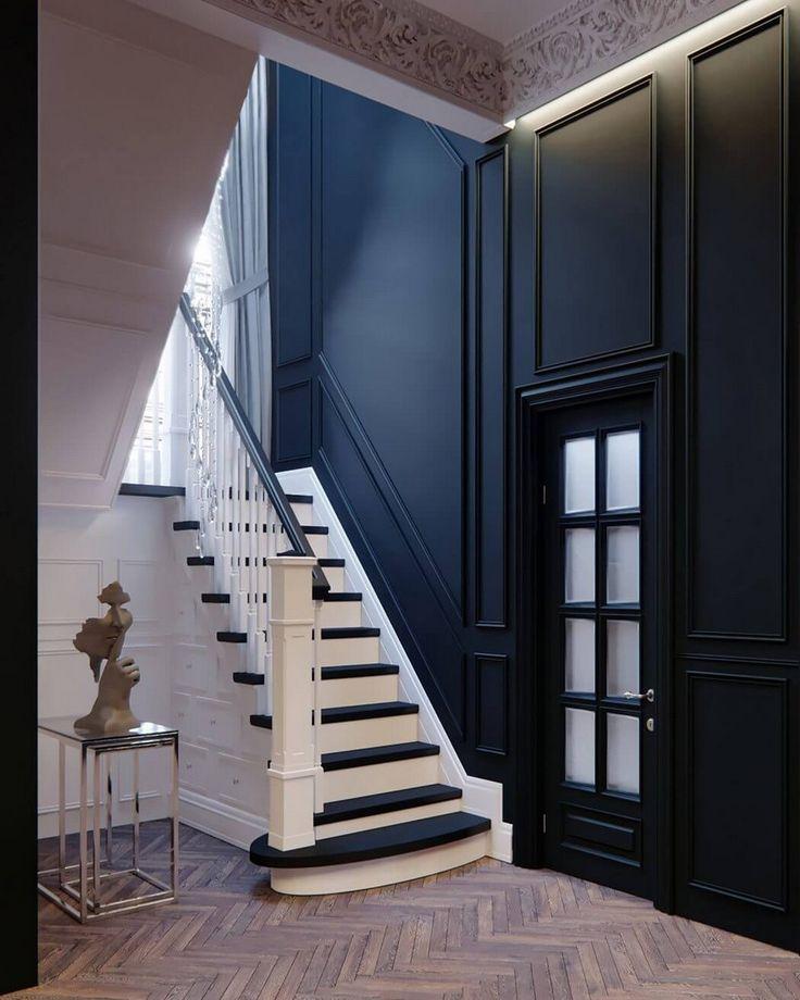 Chic Duplex Apartment in Paris by Rosko Family Design         Двухуровневая парижская квартира площадью 240 квадратных метров для небольшо...