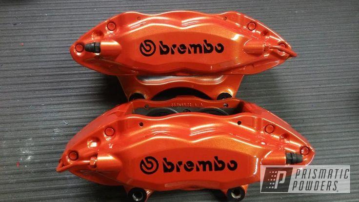 Powder Coated Orange Brembo Brake Calipers Brake