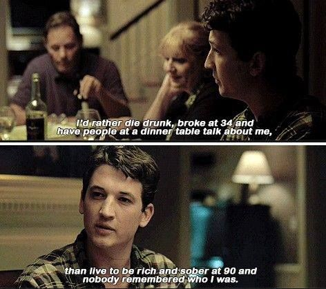 Whiplash - seriously head over heels for this film!