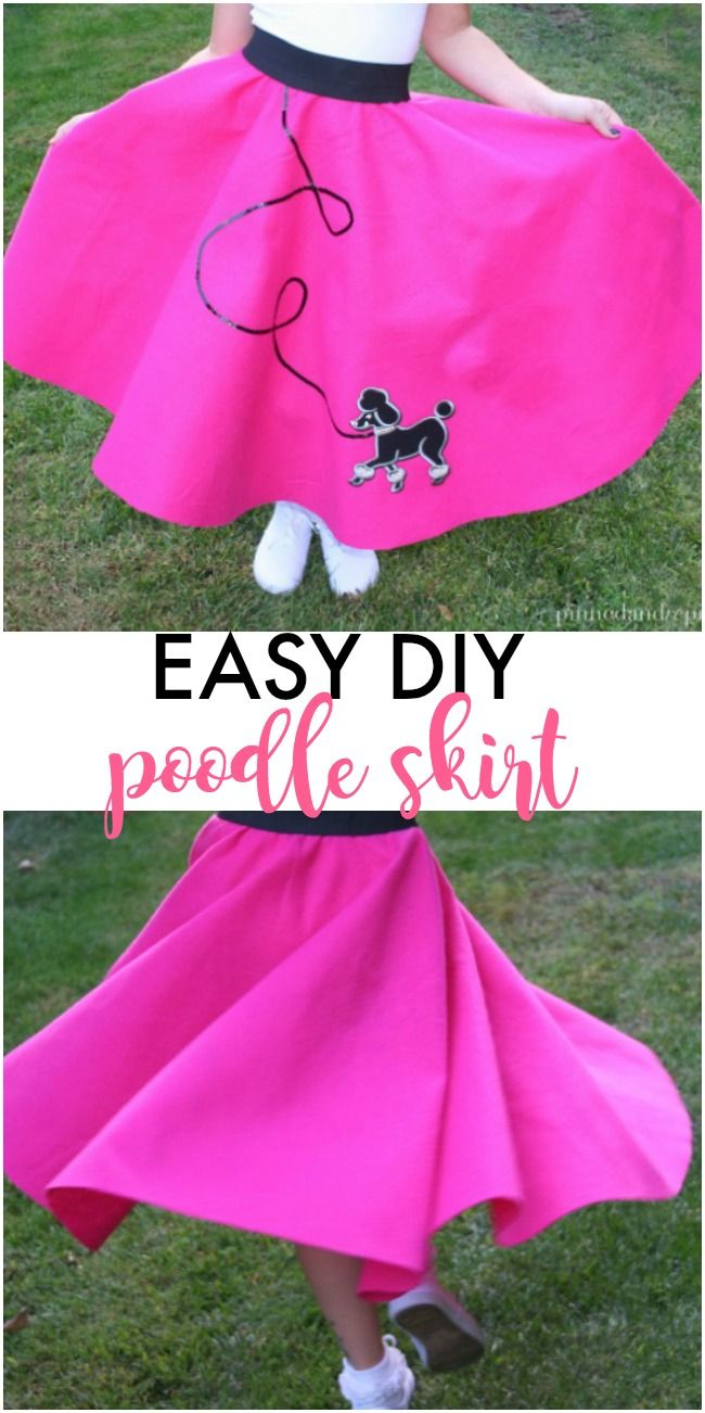 DIY poodle skirt that's easy and adorable. via @pinnedandrepinn