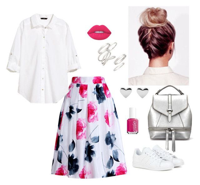 Untitled #14 by nastja11t on Polyvore featuring polyvore, moda, style, H&M, Relaxfeel, adidas, BP., Lime Crime, Essie, fashion and clothing