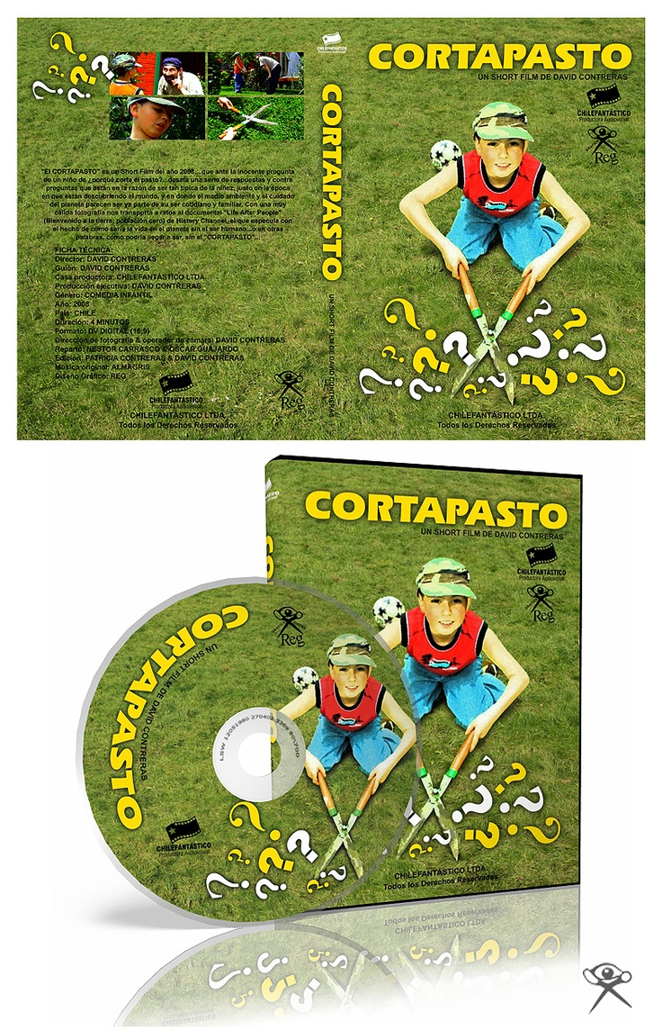 "Cover DVD for the Short Film ""Cortapasto"".  Productora Chilefantástico."