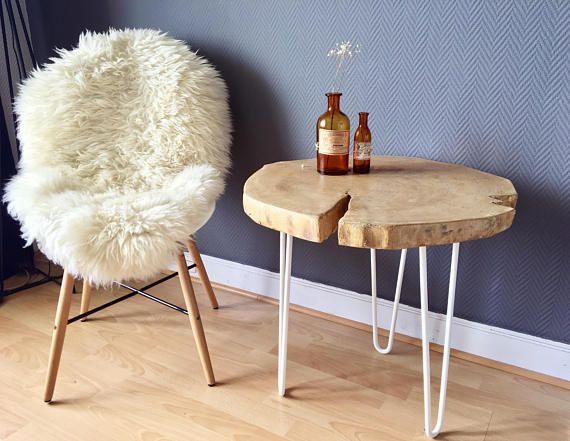 slice of tree side table rondelle bois pinterest rondelle table et chambre enfant. Black Bedroom Furniture Sets. Home Design Ideas