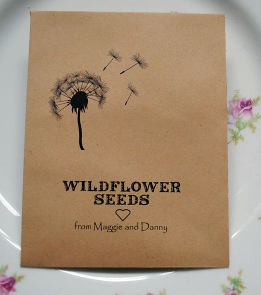 Wildflower Favours is offering a 100iscount on all their products including seed packet favours and plantable papers