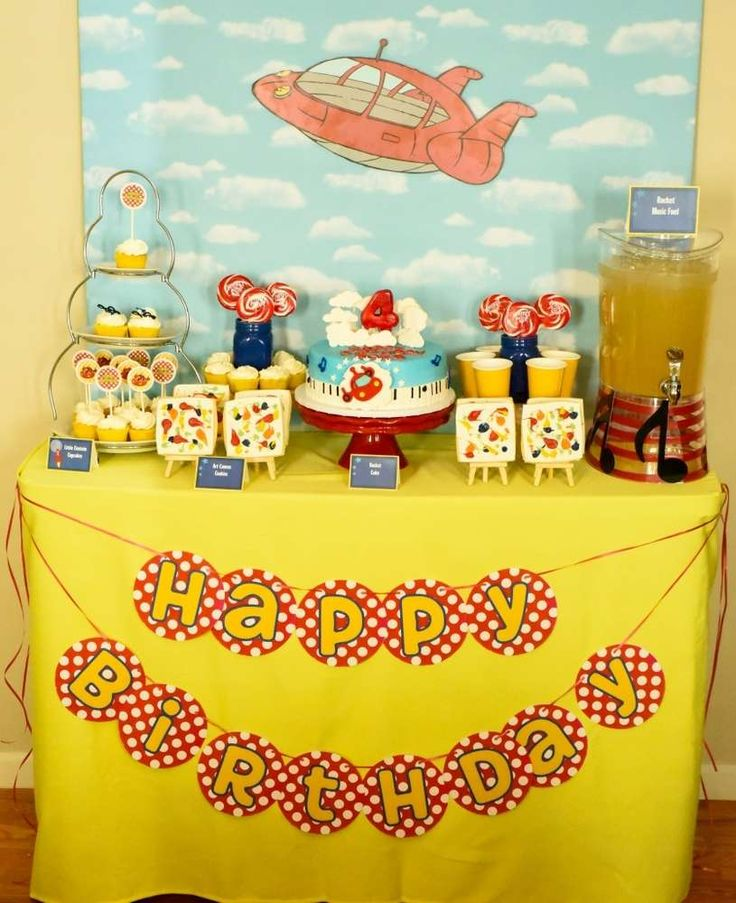 Little Einstein's birthday party dessert table! See more party planning ideas at CatchMyParty.com!
