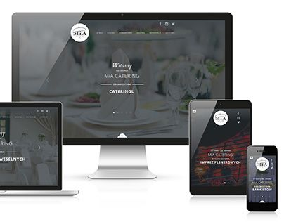 """Check out new work on my @Behance portfolio: """"MiA Catering website""""…"""