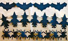 Batman paper chain!  FREE printable Halloween Paper Chain templates and tutorial!   Halloween Crafts   Kids Activities