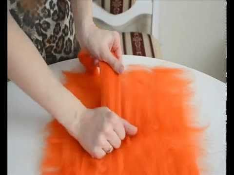 Базовая раскладка шерсти при валянии. Мастер-класс - YouTube