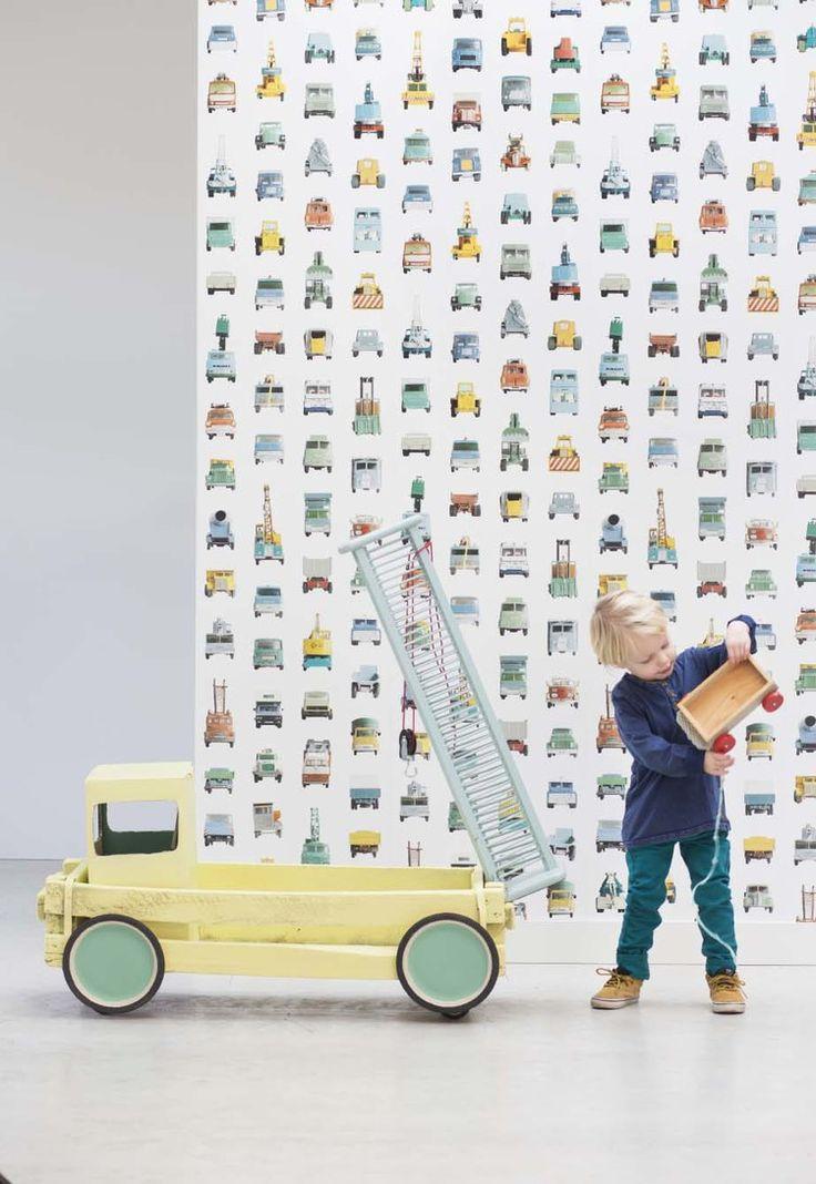 werkautobehang Studio Ditte Concept& Styling Anke Helmich | Studio StyleCookie, Fotografie: Sanne Tulp | Studio StyleCookie