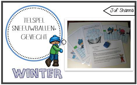 Juf Shanna: Thema winter: sneeuwballengevecht spel