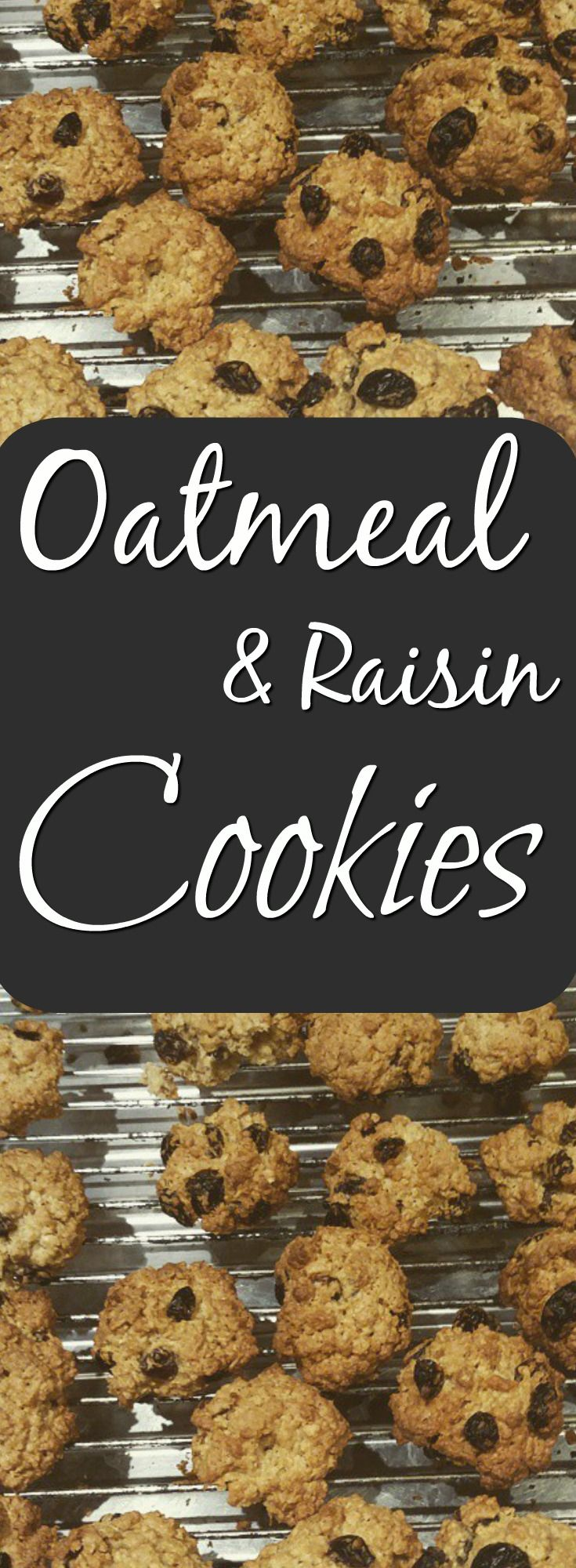 Very tasty oatmeal and raisin cookies that are full of energy, filling and taste perfect for everyone on the go! Time to fill up the biscuit tin!
