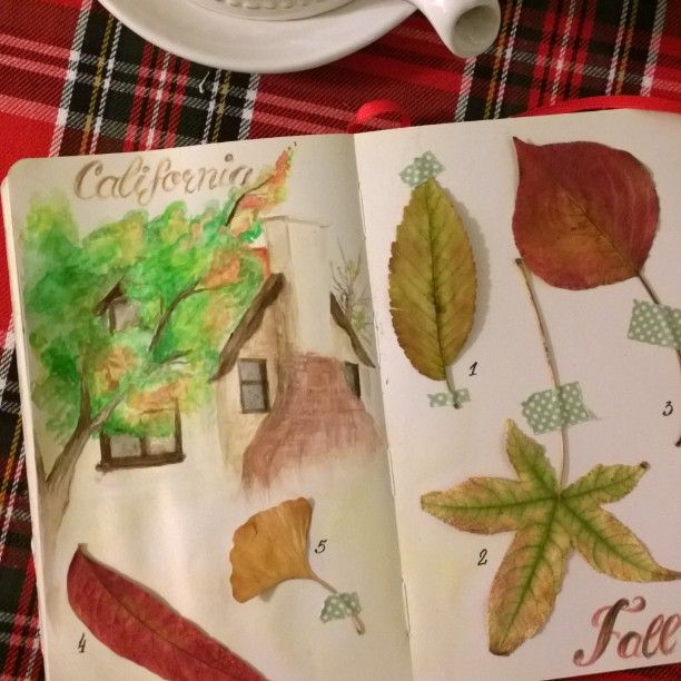 Fall page from travel journal by mila_hofman