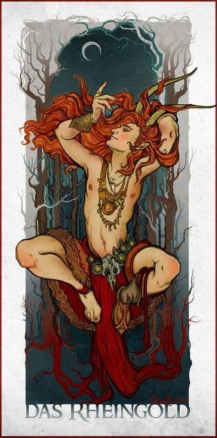The Greenman, Cernunnos /Herne the Hunter... Das Rheingold By Artist Sceithailm...