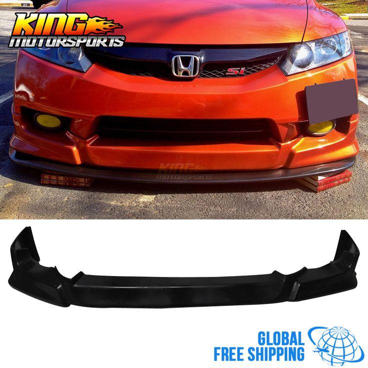 For 2009 2010 2011 Honda Civic 4D 4Door Urethane Sedan HF-P Front Bumper Lip Spoiler Global Free Shipping Worldwide #Affiliate