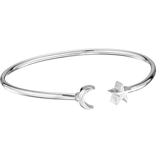 Alex and Ani Moon and Star Cuff Bracelet (Sterling Silver) Bracelet ($98) found on Polyvore featuring women's fashion, jewelry, bracelets, sterling silver jewellery, adjustable cuff bracelet, alex and ani, cuff bangle and adjustable bangle