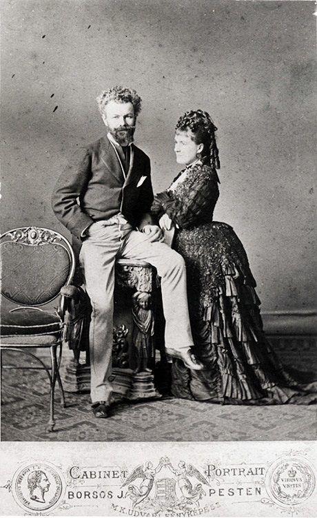 Munkácsy Mihály (1844-1900) és neje 1874-ben.  Fotó: Borsos József