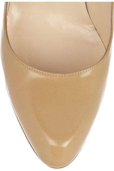 Christian Louboutin - Décolleté 100 Leather Pumps - Sand