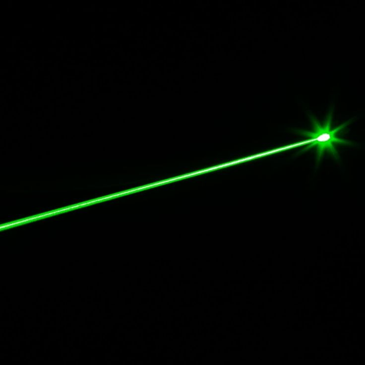 5mW 532nm Mid-open Green Laser Pointer Black