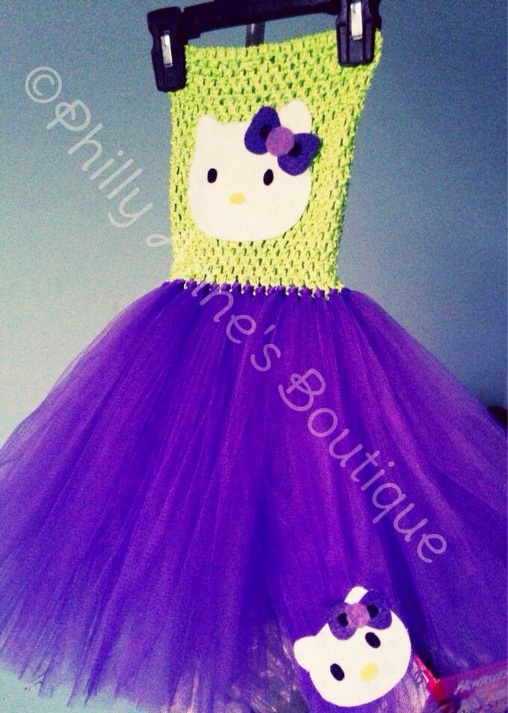 Hello Kitty tutu dress, purple and green tutu, hello kitty halloween costume, girls birthday outfit by PhillyAnnesBoutique on Etsy https://www.etsy.com/listing/203824139/hello-kitty-tutu-dress-purple-and-green