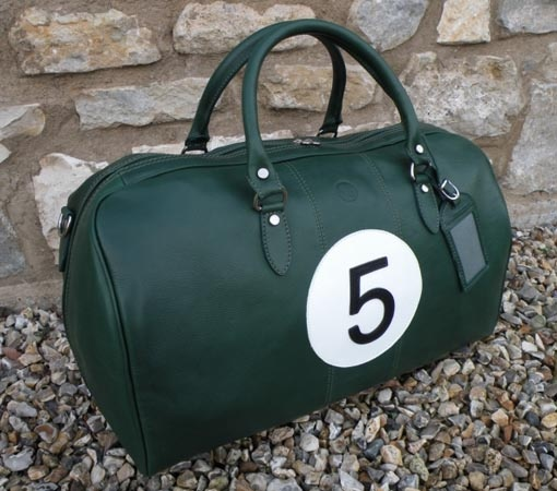 Caracalla Bagaglio Commemorative Motorsport Collection - Handmade leather bags designed to match historic race cars