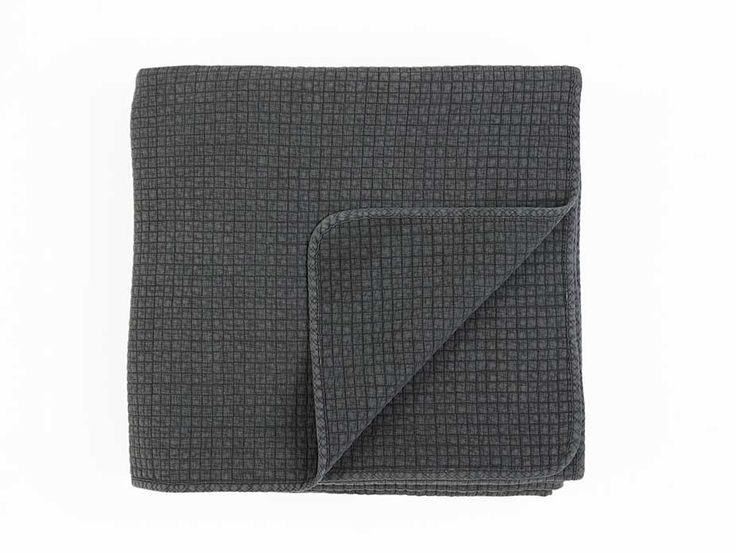 Havana Charcoal Quilted Bedspread - This modern charcoal quilted bedspread has a vintage washed effect to create softness with a relaxed, lived-in look. Available in three sizes.
