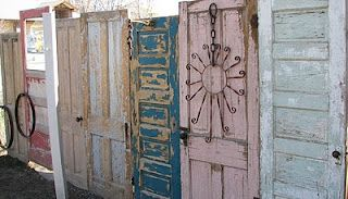 Fence made out of doors- LOVE!!