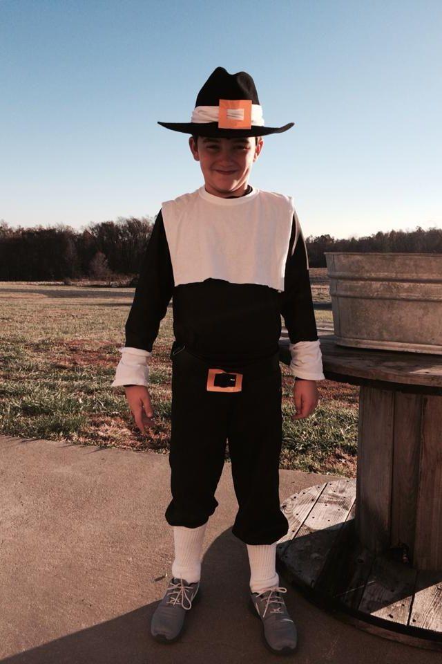 Dress up like a pilgrim.