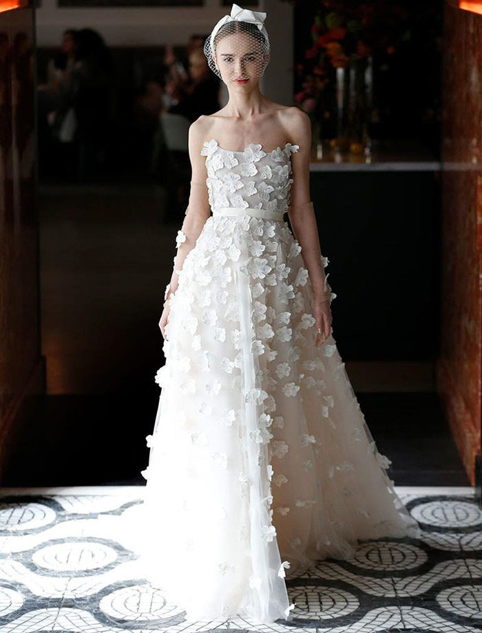 The Biggest Wedding Dress Trends From Spring 2018 Bridal Fashion Week - 3D Cut Spring Florals